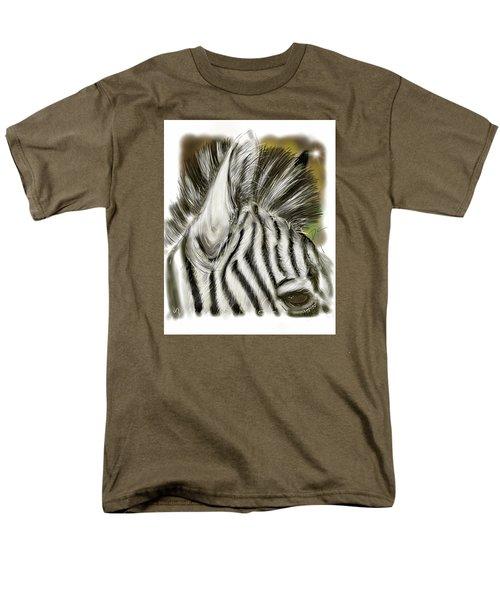 Men's T-Shirt  (Regular Fit) featuring the digital art Zebra Digital by Darren Cannell