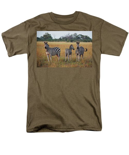 Zebra Family Men's T-Shirt  (Regular Fit) by Bruce W Krucke