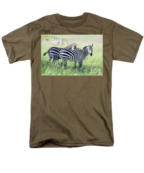 Zebras In Serengeti Men's T-Shirt  (Regular Fit) by Pravine Chester