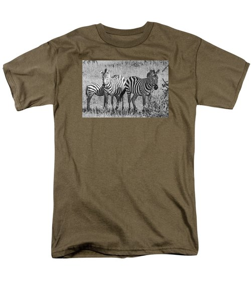 Men's T-Shirt  (Regular Fit) featuring the photograph Zebras In Thought by Pravine Chester