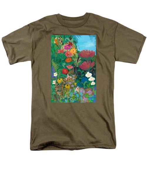 Zinnias Garden Men's T-Shirt  (Regular Fit) by Robin Maria Pedrero