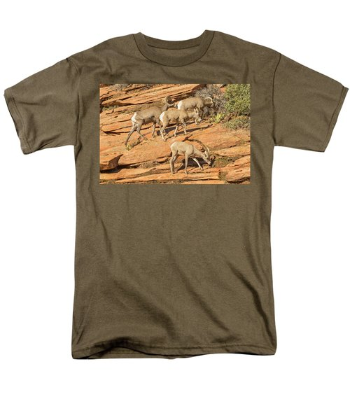 Men's T-Shirt  (Regular Fit) featuring the photograph Zion Big Horn Sheep by Peter J Sucy