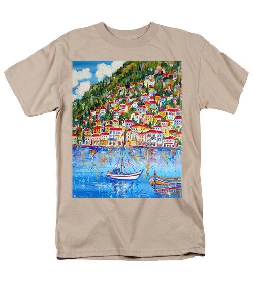 Boats Down South Italy Coast  Men's T-Shirt  (Regular Fit)