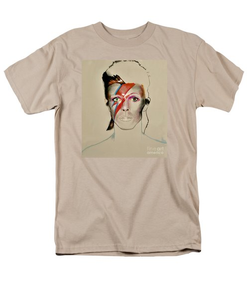 Men's T-Shirt  (Regular Fit) featuring the drawing David Bowie by Maja Sokolowska