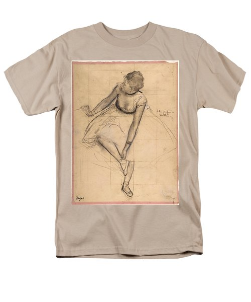 Dancer Adjusting Her Slipper Men's T-Shirt  (Regular Fit) by Edgar Degas