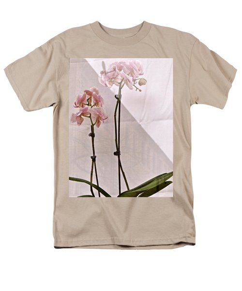 Men's T-Shirt  (Regular Fit) featuring the photograph  Orchids In The Window by Ira Shander