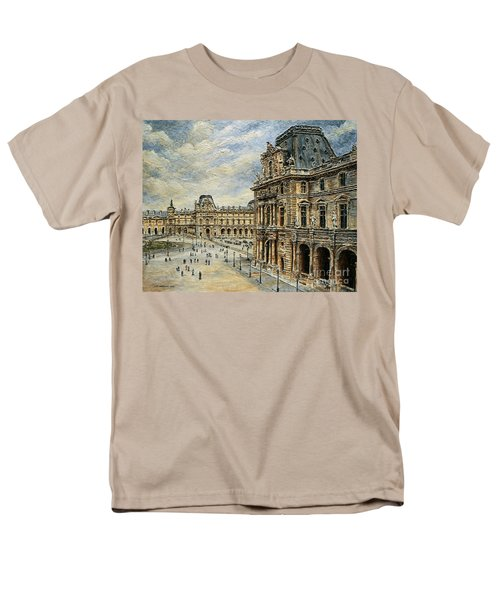 The Louvre Museum Men's T-Shirt  (Regular Fit) by Joey Agbayani