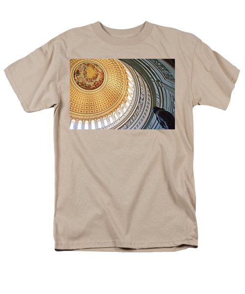 Men's T-Shirt  (Regular Fit) featuring the photograph A Capitol Rotunda by Cora Wandel