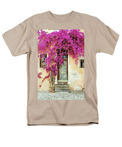 Bougainvillea Doorway Men's T-Shirt  (Regular Fit) by Allen Beatty