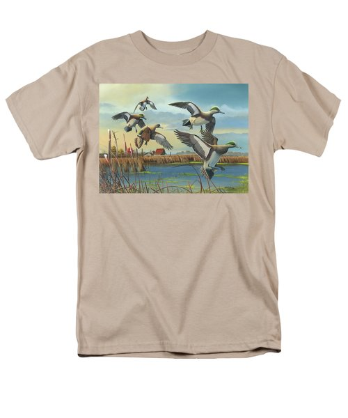 Men's T-Shirt  (Regular Fit) featuring the painting Coming Home by Mike Brown