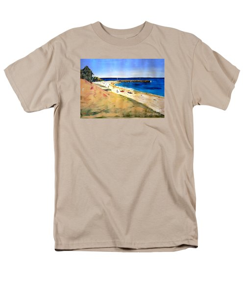 Men's T-Shirt  (Regular Fit) featuring the painting Cottesloe Beach by Therese Alcorn
