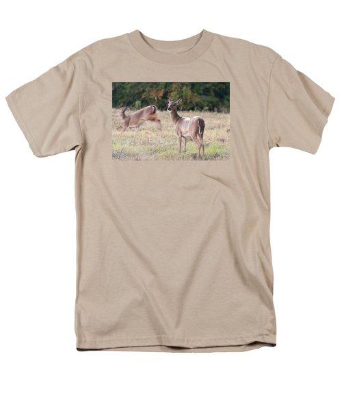 Men's T-Shirt  (Regular Fit) featuring the photograph Deer At Paynes Prairie by Paul Rebmann