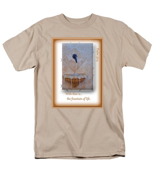 Men's T-Shirt  (Regular Fit) featuring the photograph Fountain Of Life by Larry Bishop