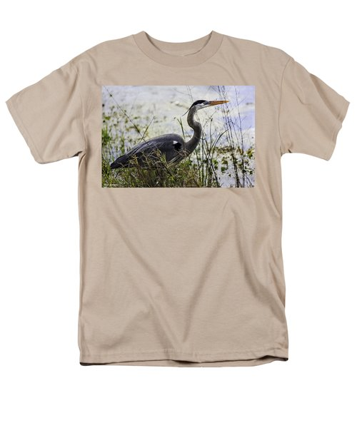 Great Blue Heron Men's T-Shirt  (Regular Fit) by Fran Gallogly