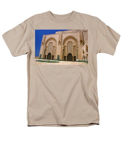 Men's T-Shirt  (Regular Fit) featuring the photograph Hassan II Mosque Grand Mosque Sour Jdid Casablanca Morocco by Ralph A  Ledergerber-Photography