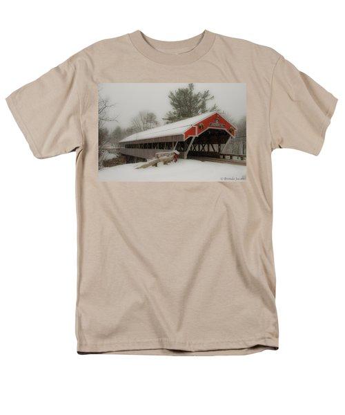 Jackson Nh Covered Bridge Men's T-Shirt  (Regular Fit) by Brenda Jacobs