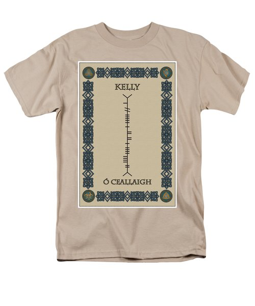 Men's T-Shirt  (Regular Fit) featuring the digital art Kelly Written In Ogham by Ireland Calling