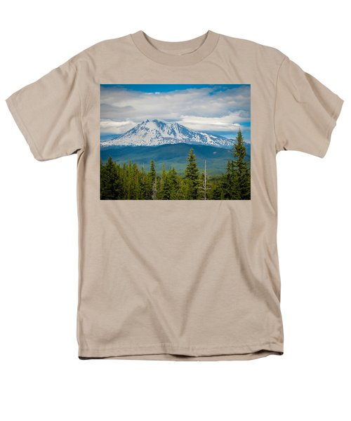 Mt. Adams From Indian Heaven Wilderness Men's T-Shirt  (Regular Fit) by Patricia Babbitt