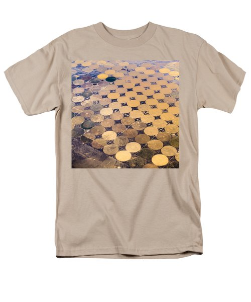 Patchworks. Aerial View To Texas's Fields Men's T-Shirt  (Regular Fit)