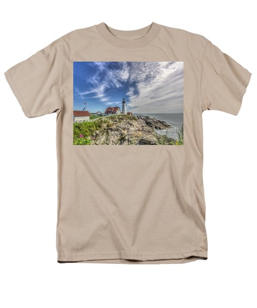 Men's T-Shirt  (Regular Fit) featuring the photograph Portland Headlight by Jane Luxton
