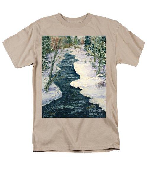 Rock Creek Winter Men's T-Shirt  (Regular Fit) by Lynne Wright