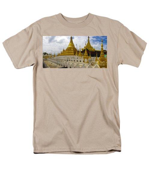 Men's T-Shirt  (Regular Fit) featuring the photograph Sandamuni Pagoda Mandalay Burma by Ralph A  Ledergerber-Photography