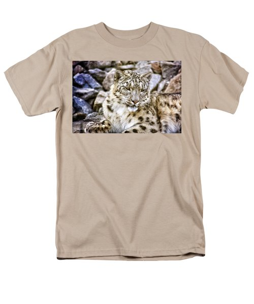 Snow Leopard Men's T-Shirt  (Regular Fit) by Daniel Precht