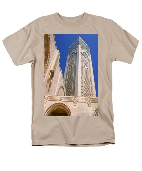 Men's T-Shirt  (Regular Fit) featuring the photograph The Hassan II Mosque Grand Mosque With The Worlds Tallest 210m Minaret Sour Jdid Casablanca Morocco by Ralph A  Ledergerber-Photography