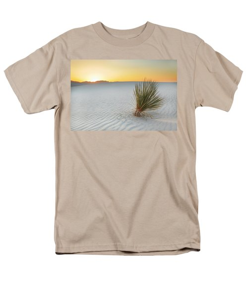 Yucca Plant At White Sands Men's T-Shirt  (Regular Fit) by Alan Vance Ley
