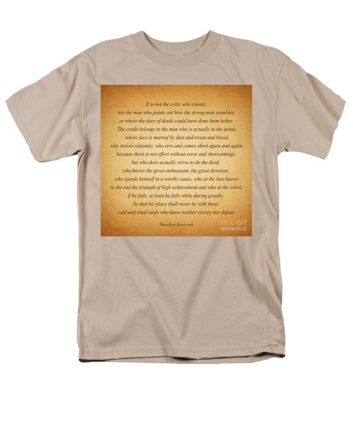 104- Theodore Roosevelt Men's T-Shirt  (Regular Fit) by Joseph Keane