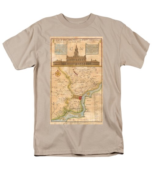 1752  Scull  Heap Map Of Philadelphia And Environs Men's T-Shirt  (Regular Fit) by Paul Fearn