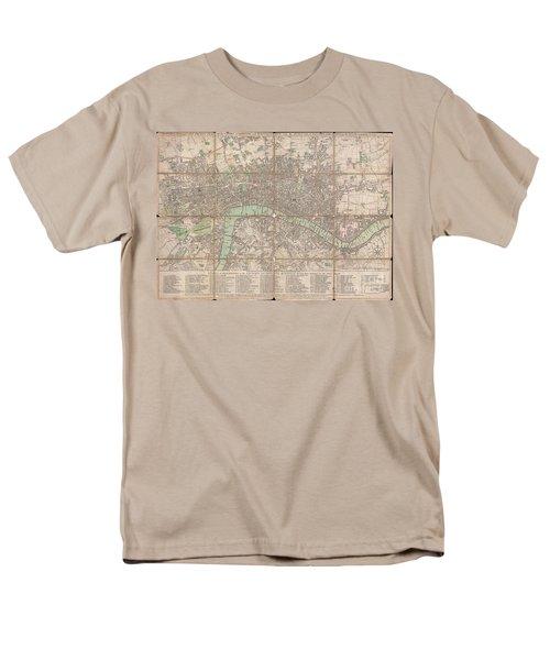 1795 Bowles Pocket Map Of London Men's T-Shirt  (Regular Fit) by Paul Fearn