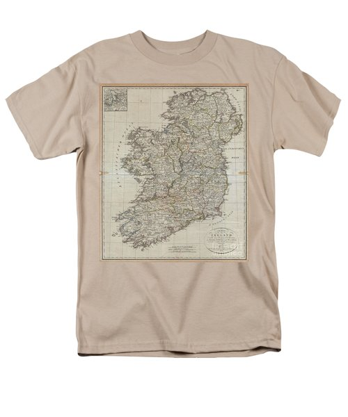 1804 Jeffreys And Kitchin Map Of Ireland Men's T-Shirt  (Regular Fit) by Paul Fearn