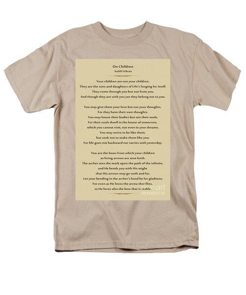 184- Kahlil Gibran - On Children Men's T-Shirt  (Regular Fit) by Joseph Keane