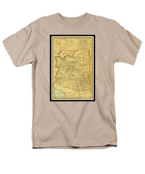 1891 Arizona Map Men's T-Shirt  (Regular Fit) by Phil Cardamone