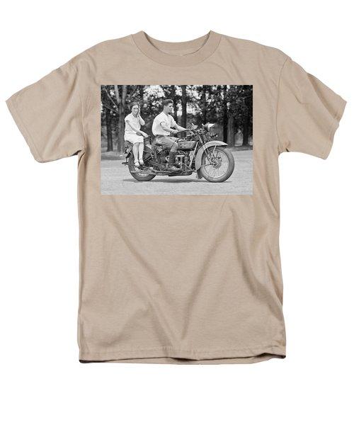 1930s Motorcycle Touring Men's T-Shirt  (Regular Fit) by Daniel Hagerman