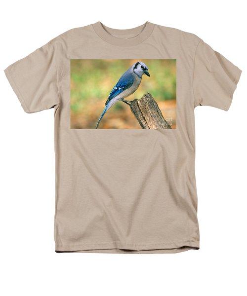 Blue Jay Men's T-Shirt  (Regular Fit) by Millard H. Sharp