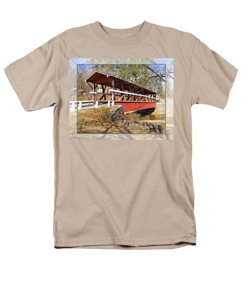 Covered Bridge In Pa. Men's T-Shirt  (Regular Fit) by Walter Herrit