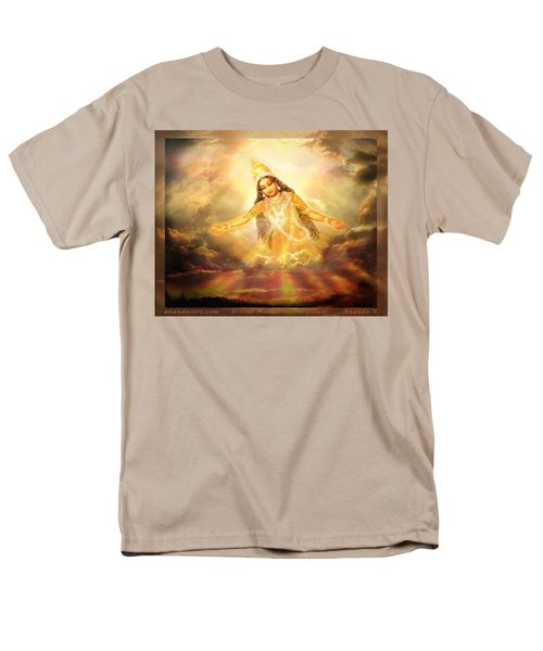 Men's T-Shirt  (Regular Fit) featuring the mixed media Flying Home  by Ananda Vdovic