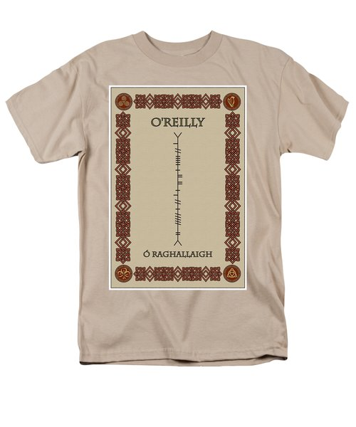 Men's T-Shirt  (Regular Fit) featuring the digital art O'reilly Written In Ogham by Ireland Calling