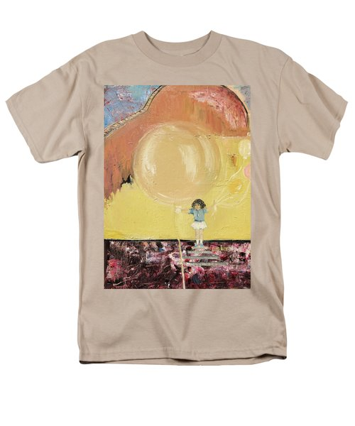 Men's T-Shirt  (Regular Fit) featuring the painting Playground by Evelina Popilian