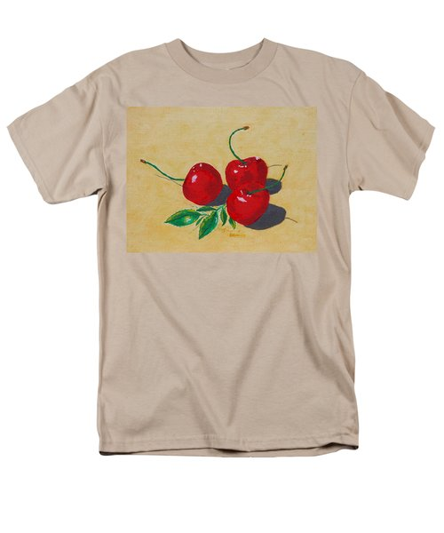 Men's T-Shirt  (Regular Fit) featuring the painting Red Cherries by Johanna Bruwer