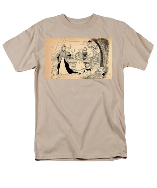 Men's T-Shirt  (Regular Fit) featuring the drawing The Palace Balcony by Reynold Jay