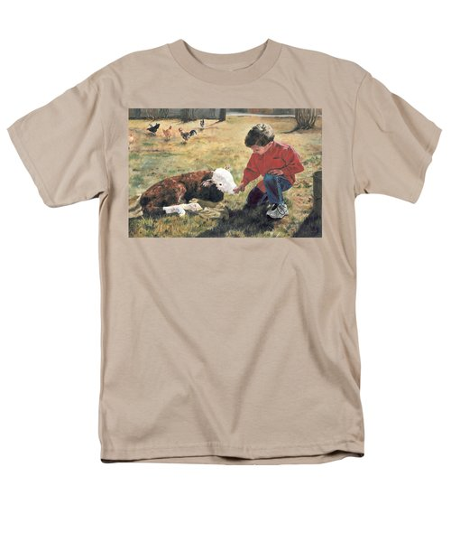 Men's T-Shirt  (Regular Fit) featuring the painting 20 Minute Orphan by Lori Brackett