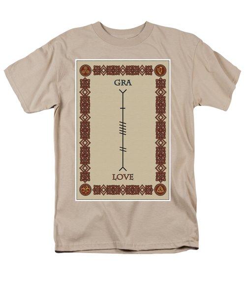 Love Written In Ogham Men's T-Shirt  (Regular Fit) by Ireland Calling