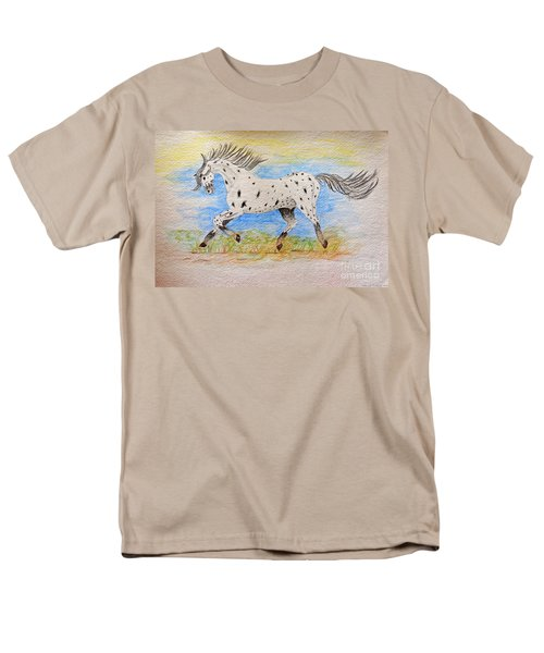 Running Free Men's T-Shirt  (Regular Fit) by Debbie Portwood