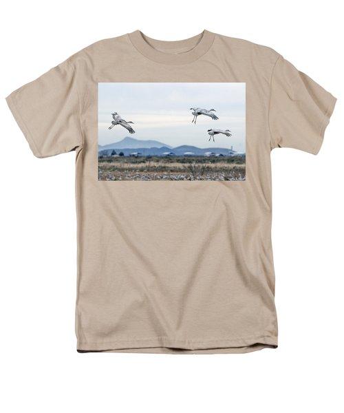 Sandhill Cranes Men's T-Shirt  (Regular Fit) by Tam Ryan