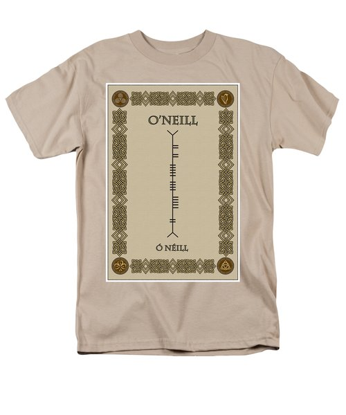 Men's T-Shirt  (Regular Fit) featuring the digital art O'neill Written In Ogham by Ireland Calling