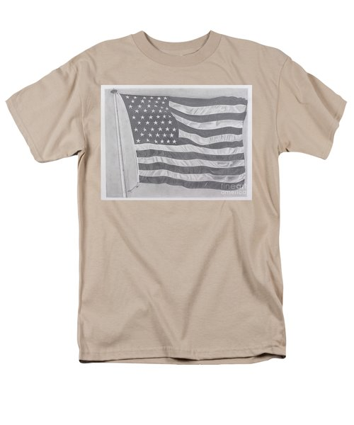 Men's T-Shirt  (Regular Fit) featuring the pastel 50 Stars 13 Stripes by Wil Golden