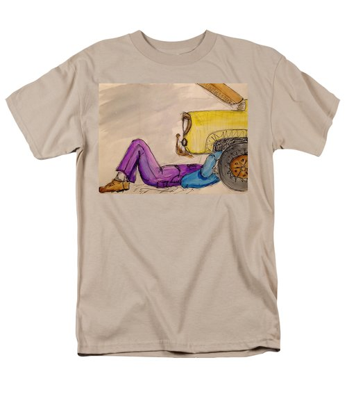 Men's T-Shirt  (Regular Fit) featuring the painting 57 Ford by Erika Chamberlin